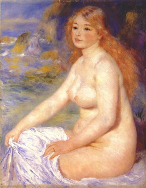 Blonde bather, 1881 - Pierre-Auguste Renoir