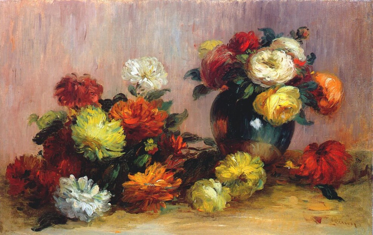 Bouquets of flowers pierre auguste renoir for Bouquet de fleurs nature