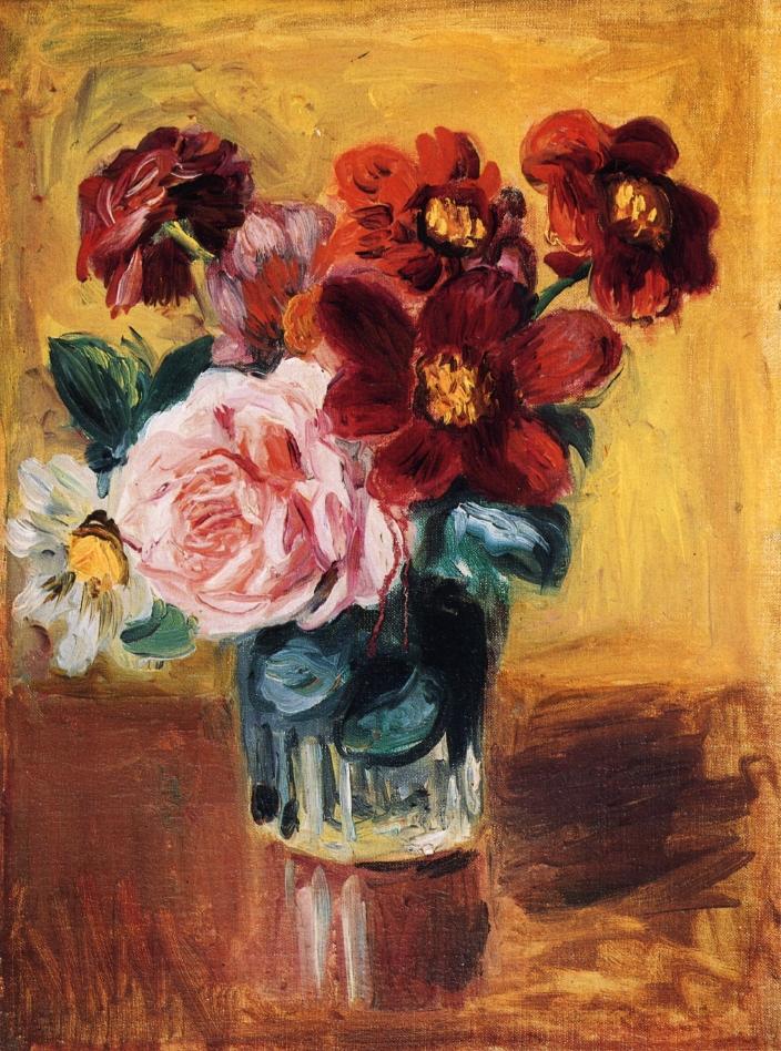 Flowers In A Vase Pierre Auguste Renoir Wikiart Org