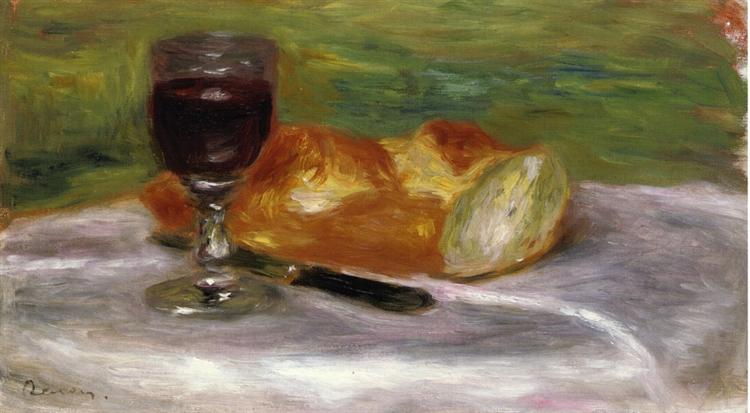 Glass of Wine, 1908 - Pierre-Auguste Renoir