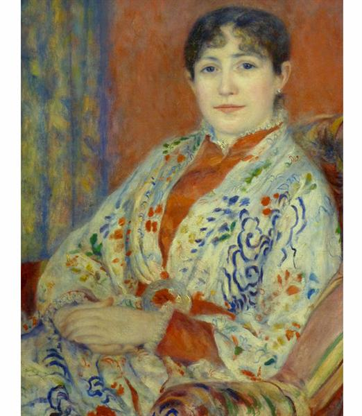 Madame Hériot, 1882 - Auguste Renoir