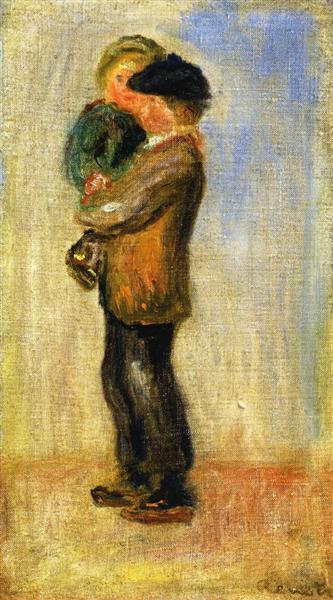 Man Carrying a Boy - Pierre-Auguste Renoir