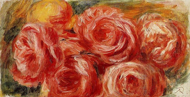 Red Roses - Pierre-Auguste Renoir