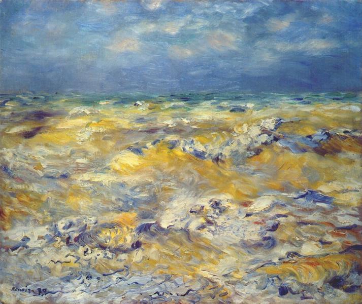 Seascape near berneval, 1879 - Pierre-Auguste Renoir