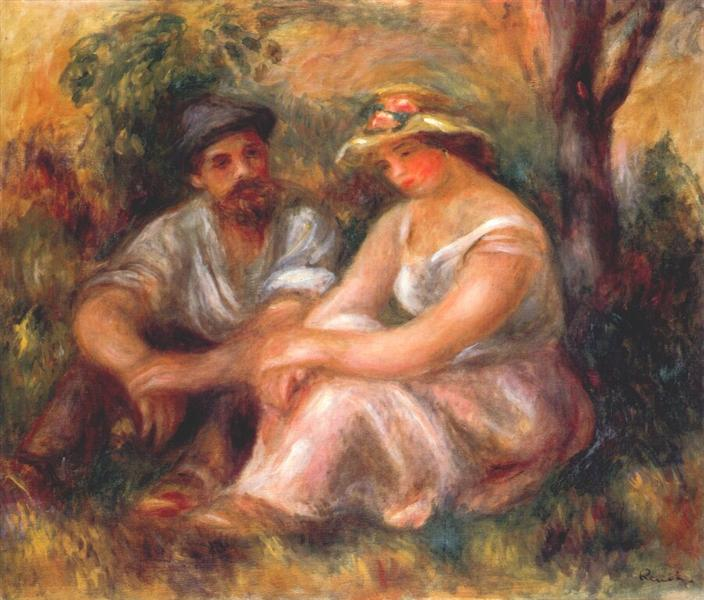 Seated couple, 1912 - Pierre-Auguste Renoir