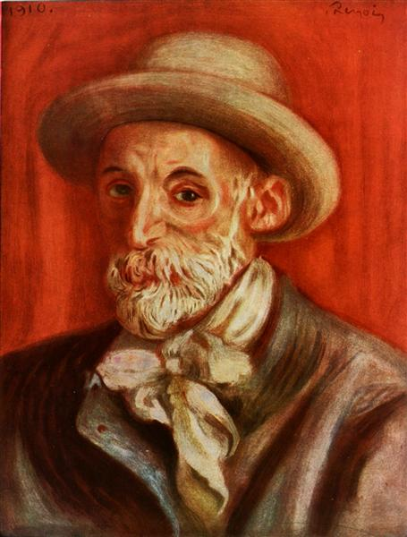 Self-Portrait, 1910 - Pierre-Auguste Renoir