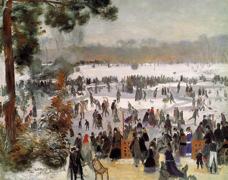 Les Patineurs à Longchamp, 1868 - Auguste Renoir