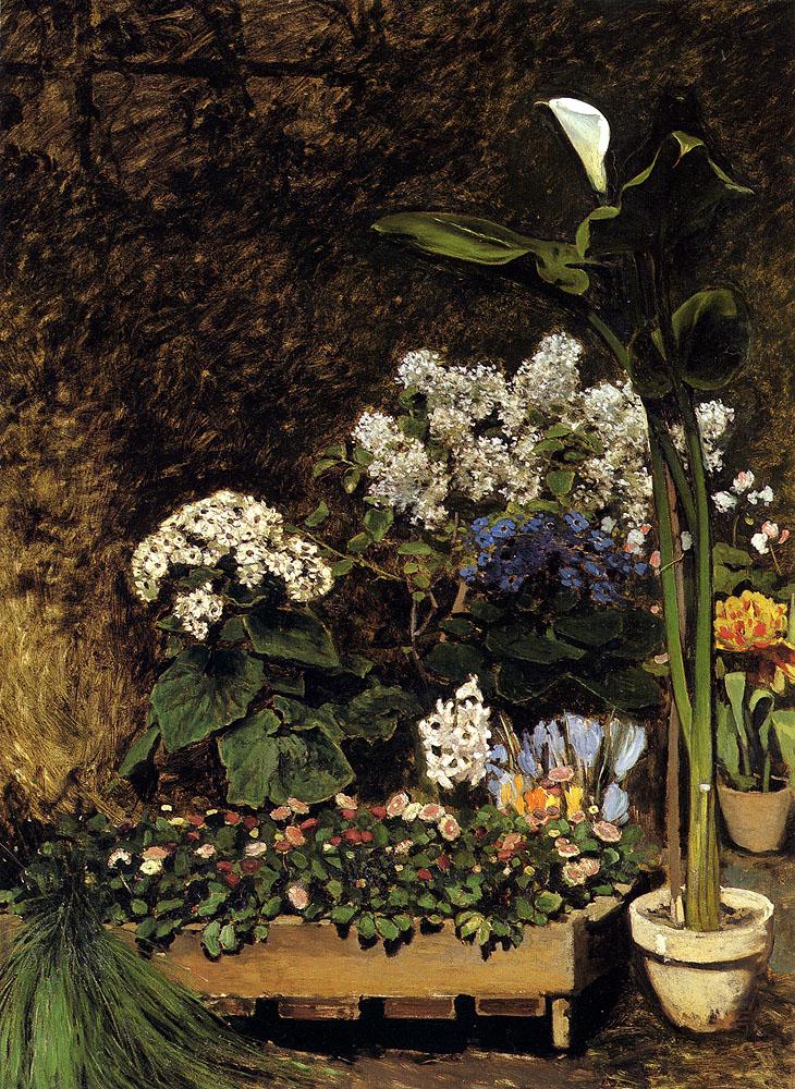 Spring Flowers 1864 Pierre Auguste Renoir Wikiart Org