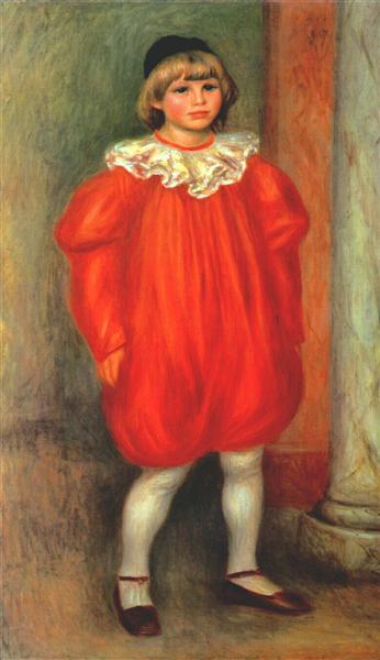 The Clown (Claude Ranoir in Clown Costume), 1909 - Pierre-Auguste Renoir