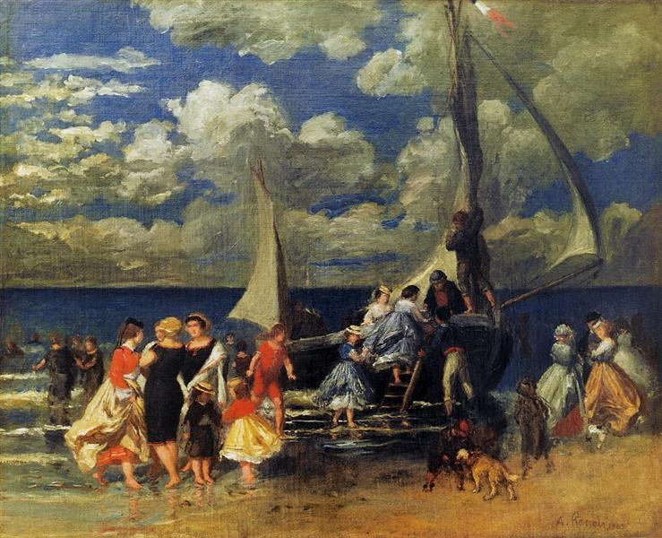 The Return of the Boating Party, 1862 - Pierre-Auguste Renoir