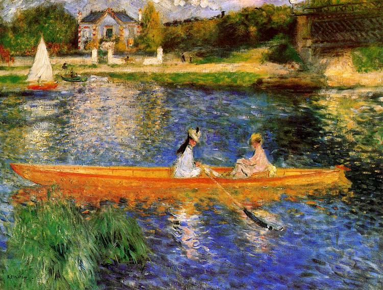The Seine at Asnieres (The Skiff), 1879 - Pierre-Auguste Renoir