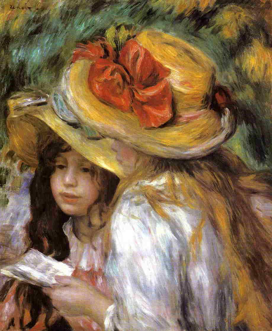 C'est arrivé un jour Two-young-girls-reading-1891