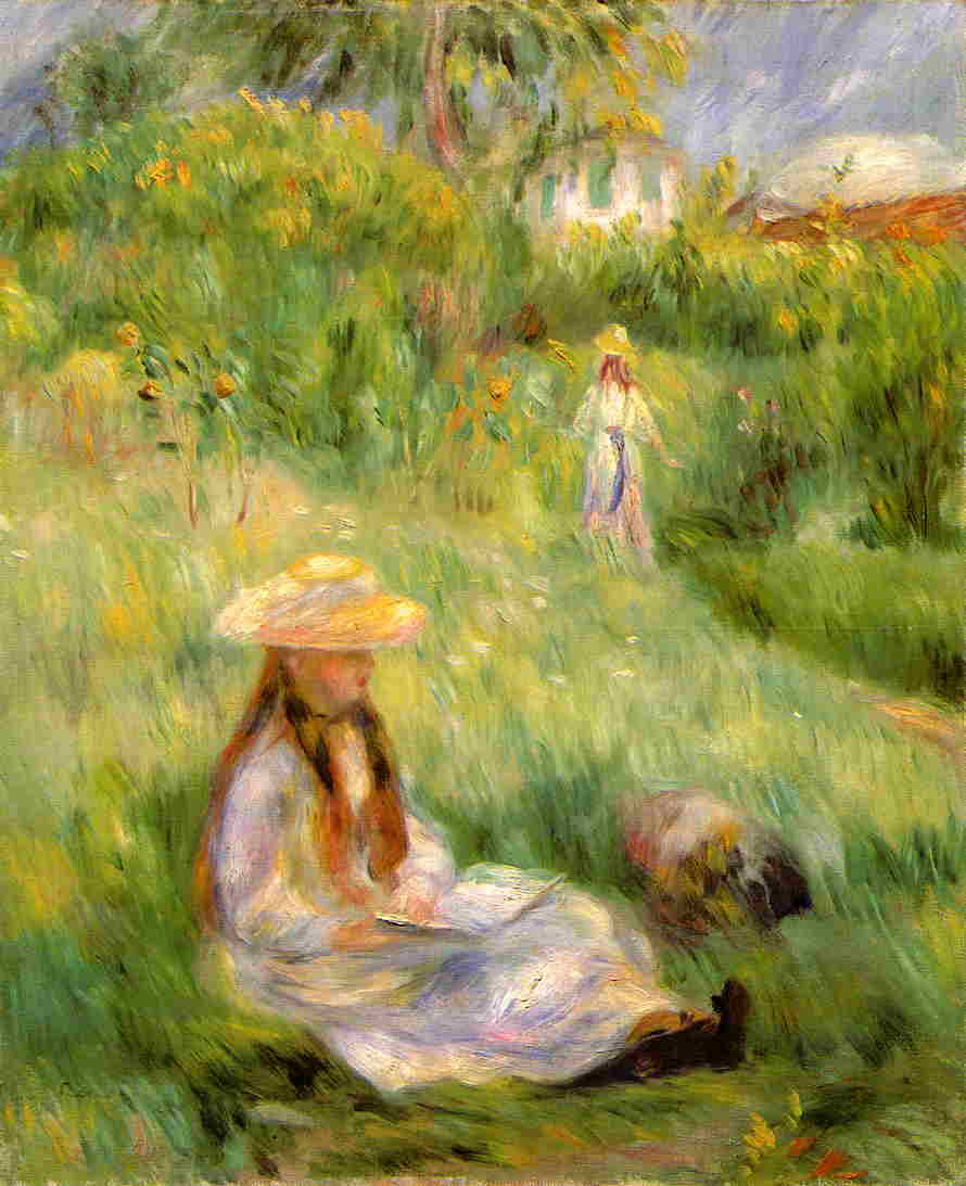 peasant women planting stakes 1891 camille pissarro wikiartorg - The Girls In The Garden