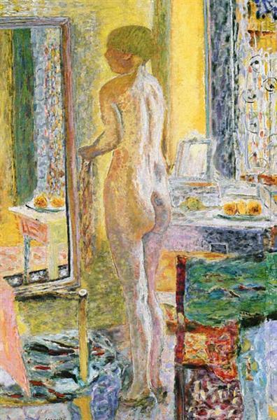 Nude Before a Mirror, 1931 - Pierre Bonnard