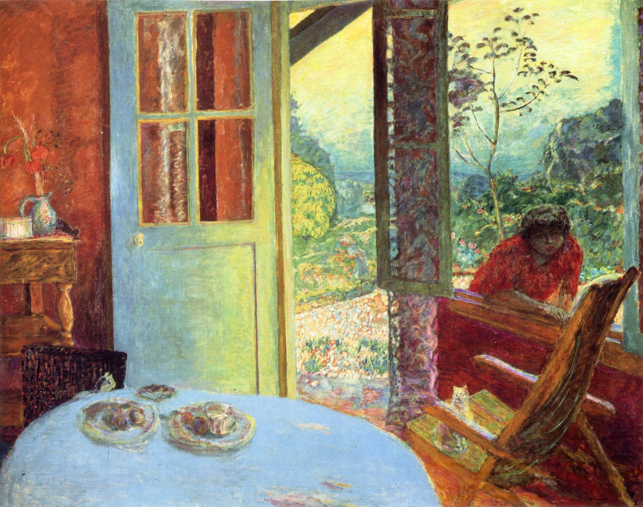 the dining room in the country, 1913 - pierre bonnard - wikiart