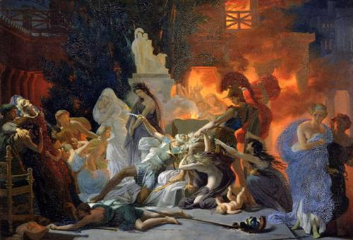 The Death of Priam - Pierre-Narcisse Guerin
