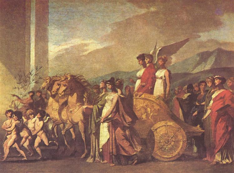 Triumph of Bonaparte and Peace (Sketch) - Pierre-Paul Prud'hon
