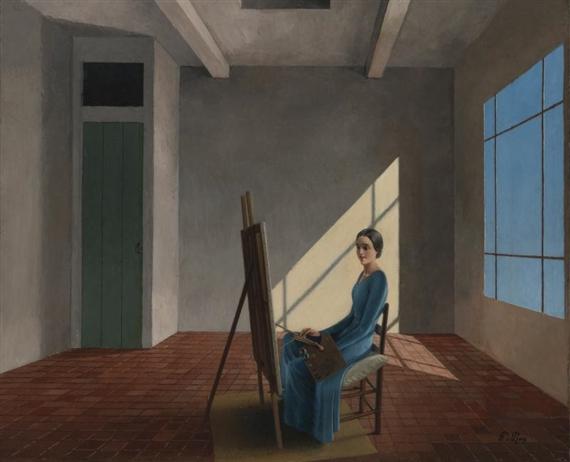 La femme peintre, 1931 - Pierre Roy