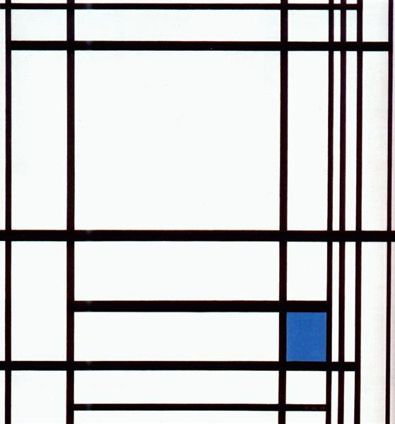 Composition with Blue, 1937 - Piet Mondrian