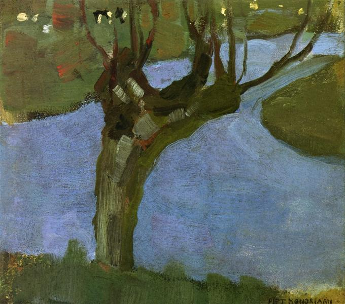 Irrigation Ditch with Mature Willow, 1900 - 1902 - Piet Mondrian