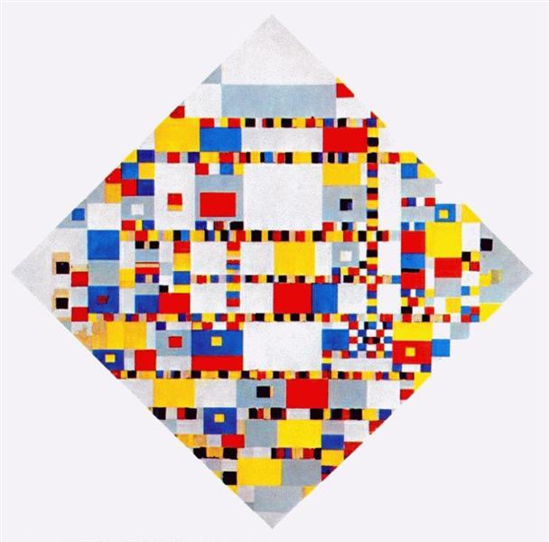 Victory Boogie Woogie, 1944 - Piet Mondrian