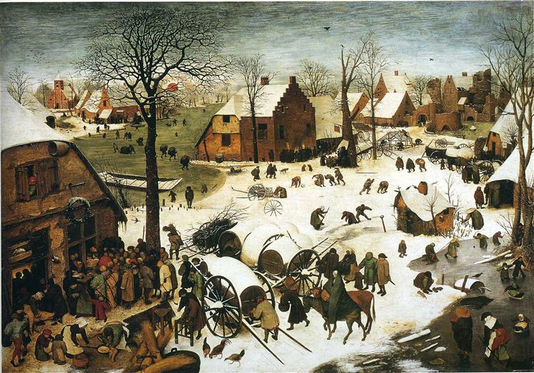 Census at Bethlehem, 1566 - Pieter Bruegel the Elder