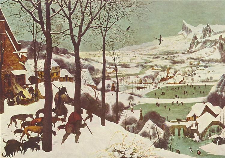 Hunters in the Snow - Bruegel the Elder Pieter