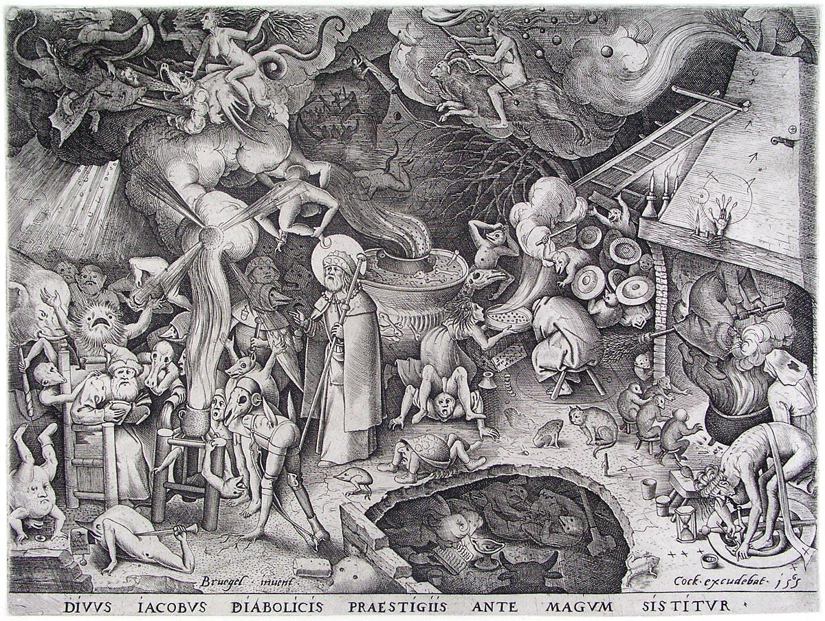 James the late emperor of the Devil is stopped the illusions of a magician, 1565