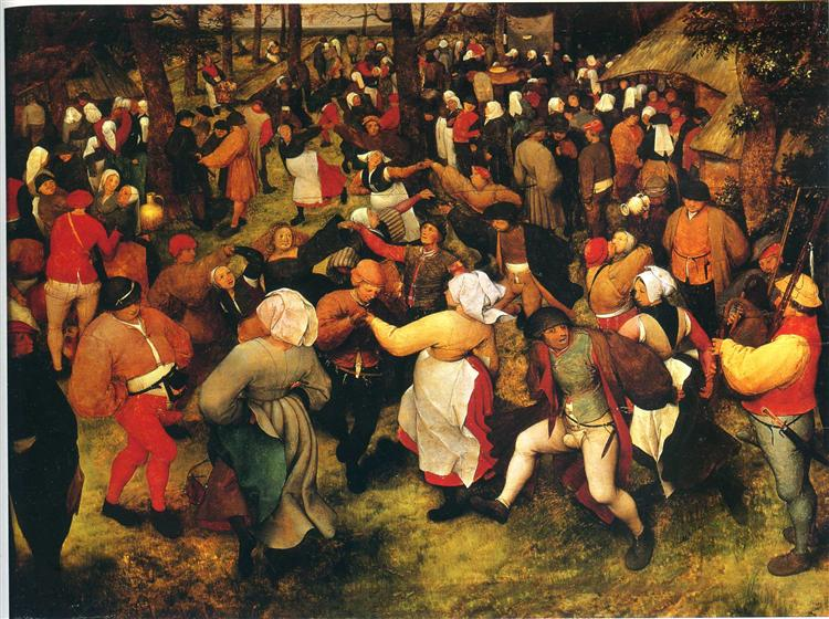 The Wedding Dance in the open air, c.1566 - Pieter Bruegel the Elder