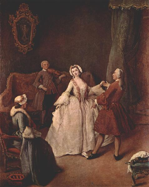 The Dancing Lesson - Pietro Longhi