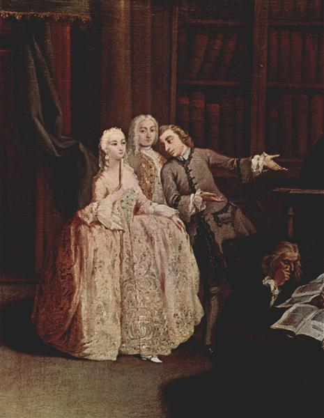Visit to a library - Pietro Longhi