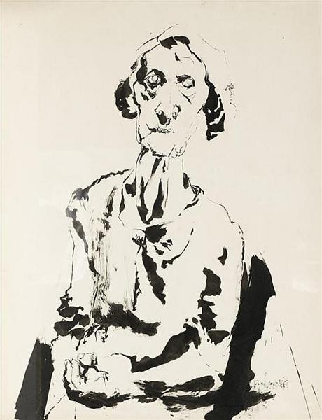 An elderly woman - Pietro Lazzari