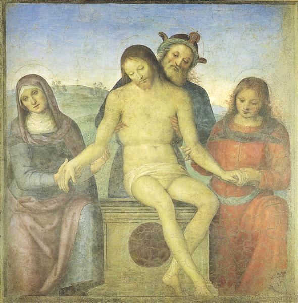 Christ in Pieta - Perugino Pietro