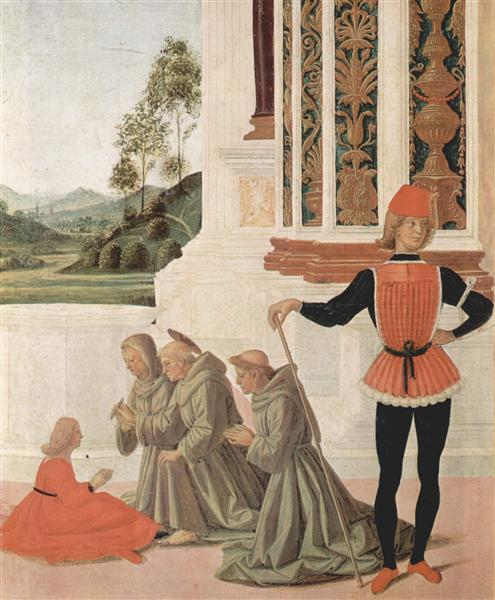 The Miracles of San Bernardino. The Healing of a Young (detail), 1473 - Le Pérugin