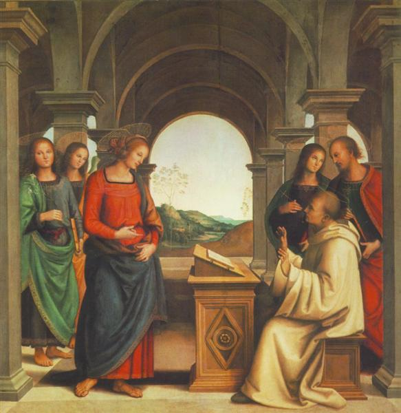 The vision of St. Bernard - Pietro Perugino