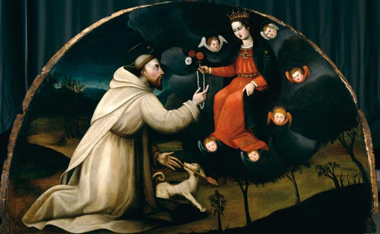 Saint Dominic Receives the Rosary - Plautilla Nelli