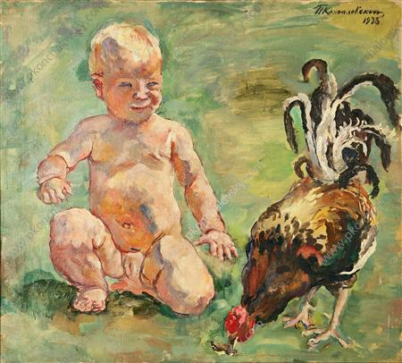 A boy with a cock, 1933