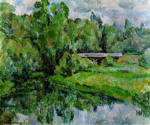 A Bridge. The Vorya River. Abramtsevo., 1920