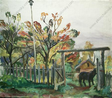 Horse at the gate, 1930