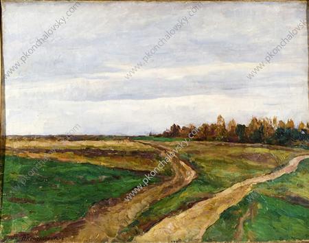 Landscape. A field., 1921