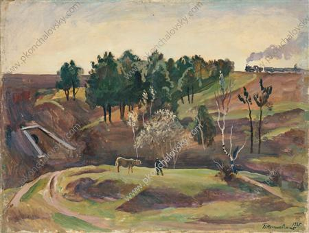 Landscape with the railway, 1935