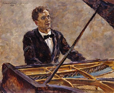 Portrait of pianist Vladimir Sofronitsky at the piano, 1932