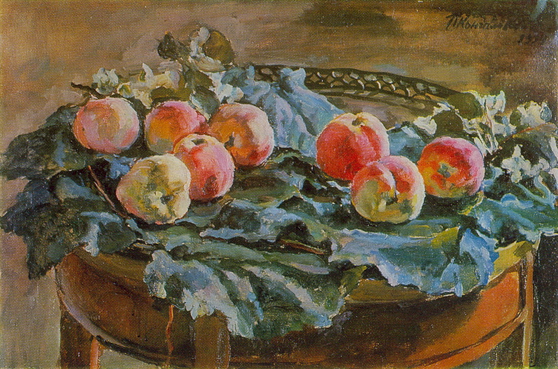 Still Life. Apples at the roundtable., 1934