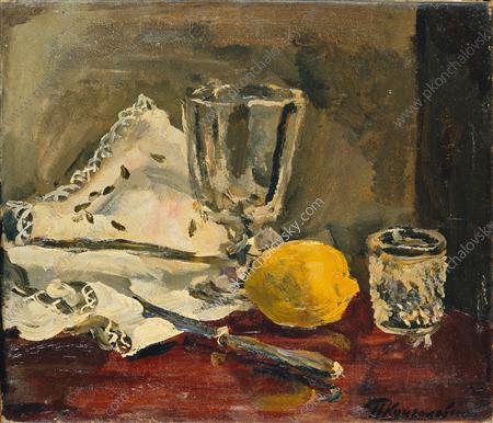 Still Life. Lemon and knife., 1930