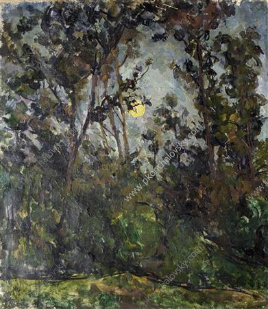The moon through the trees, 1923