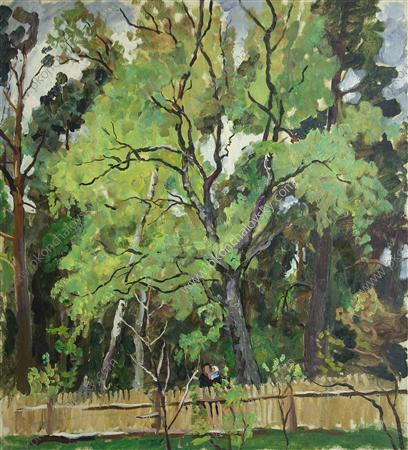 The trees behind the fence, 1940