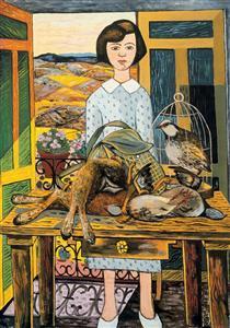 Girl with still life - Rafael Zabaleta