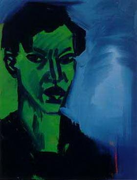 Grünes Selbstportrait, 1981 - Rainer Fetting