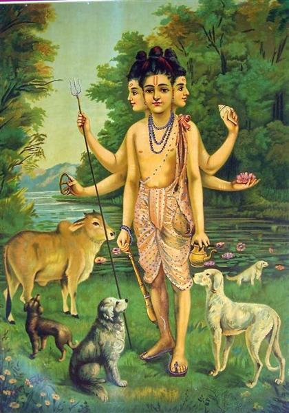 Dattatreya, 1910 - Raja Ravi Varma