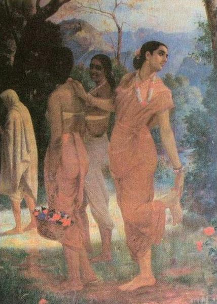 Shakuntala, 1898 - Раджа Раві Варма